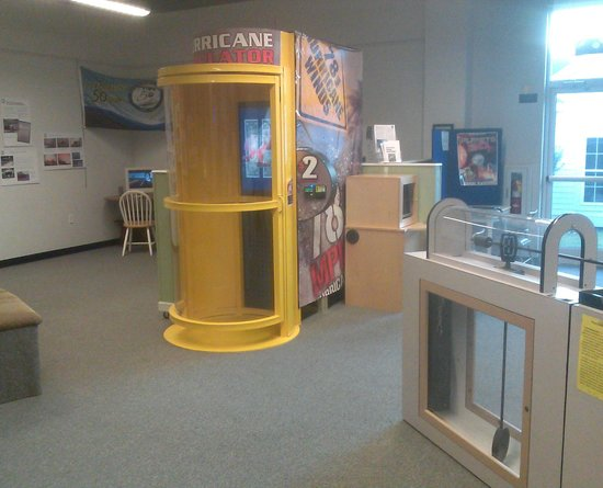 Ingram Planetarium: Hurricane Simulator machine...