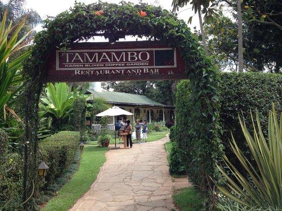 Tamambo Karen Blixen: Tamambo Restaurant - Karen Blixen Coffee Garden