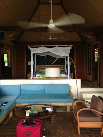 Coconuts Beach Club: Inside of our Beach Front Fale