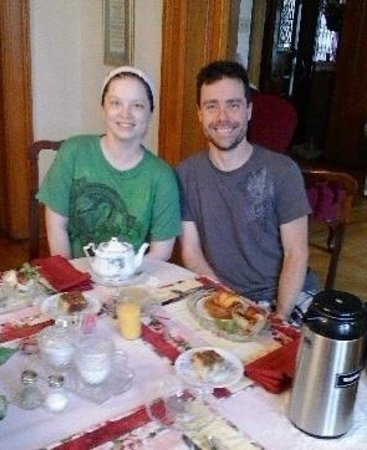 The Clarion House B&B: we're not early risers, but breakfast was beyond!!