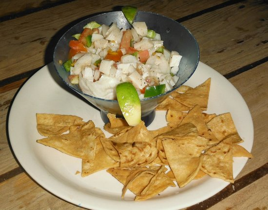Ronny's Barefeet Restaurant & Bar: Our Ceviche! Heavenly!