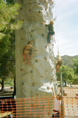 Ventura Ranch KOA: Climbing The Rock Wall