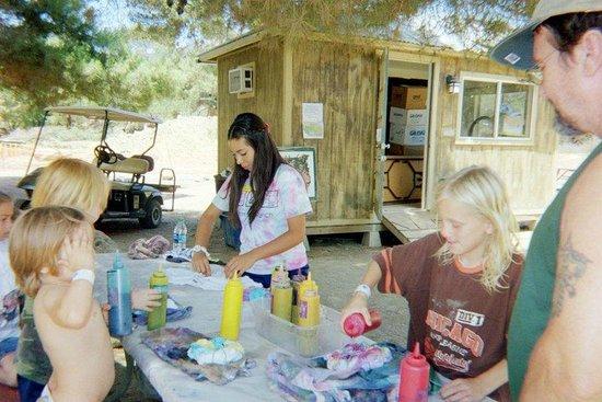 Ventura Ranch KOA: Tie-Dying Shirts
