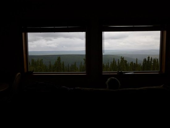 Aurora Borealis Lodge: View from our couch.