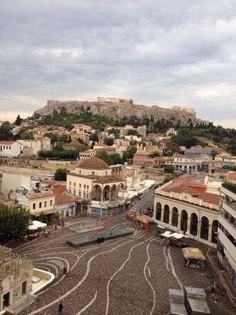 A for Athens: Vista dalla terrazza dell'hotel