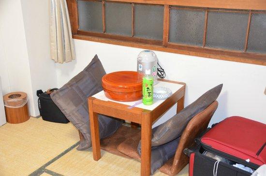 Hotel Kikuya: small table
