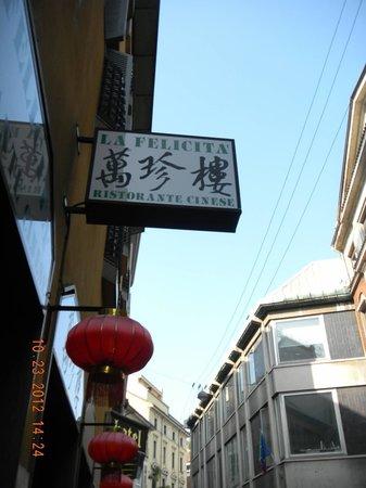 La Felicita: Restaurant sign