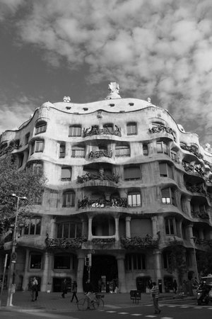 Suites Avenue : Casa Milà, literally just over the road