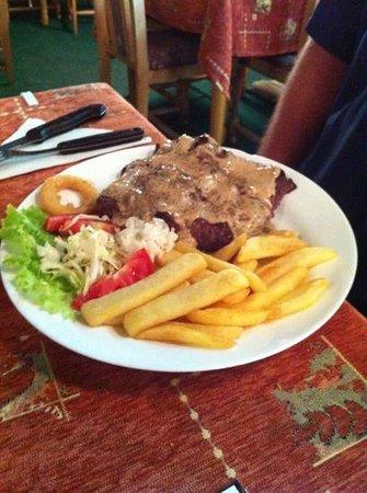 Star Inn : King Zize steak med pebersauce