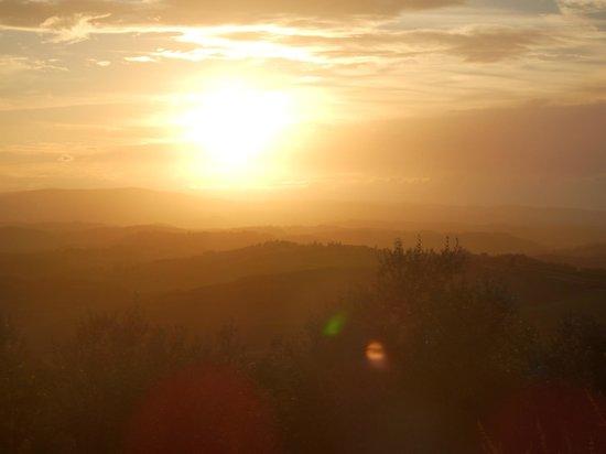 Riserva di Fizzano: Coucher de soleil