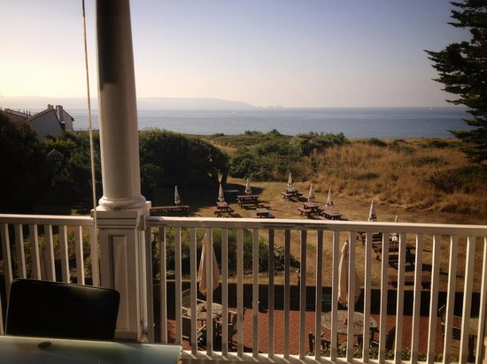 The Beach House: the view across the solent from the rear balcony