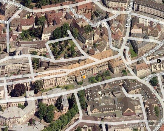 Cave historique des hospices civils de Strasbourg: The Cellars Location