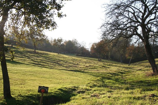 Les Fermes de Florence: View of grounds (October sunlight)
