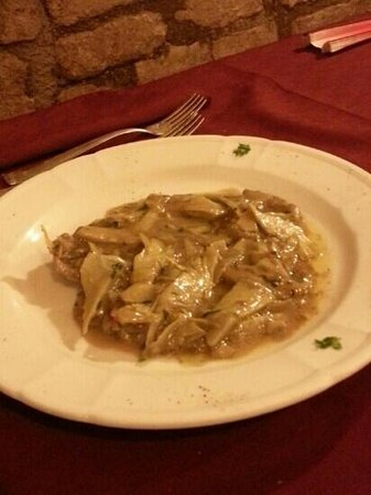 Ristorante da Cecco : scaloppine pancetta e carciofi