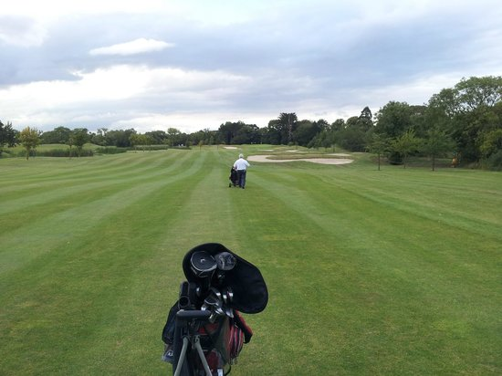 Roganstown Hotel and Country Club: Fairway on Par 5 eighteenth