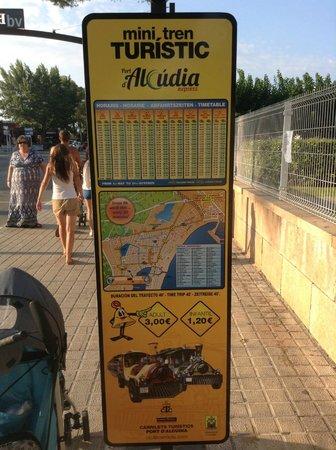 road train timetable Picture of BelleVue Club Port dAlcudia