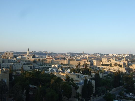 The King David : view from our hotel room