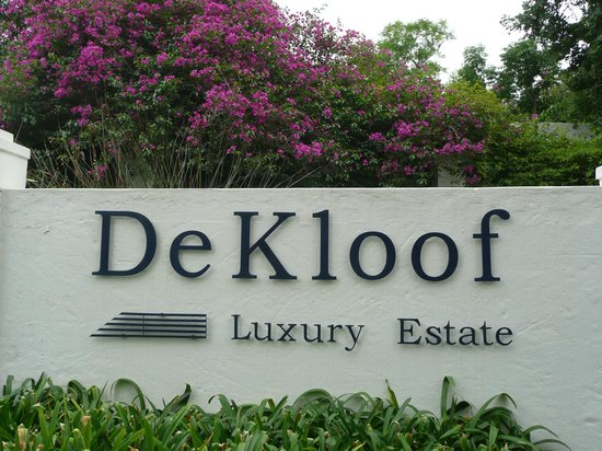 De Kloof Luxury Estate: De ingang