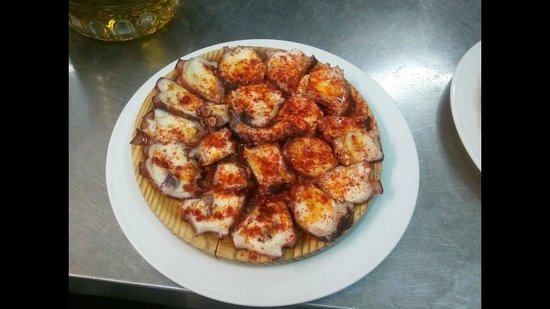 Restaurante Cambados: tabla de pulpo