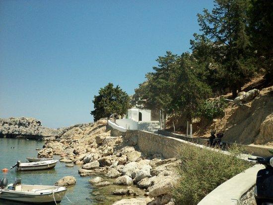 Agios Pavlos Beach (Saint Paul): Down to the Chapel.