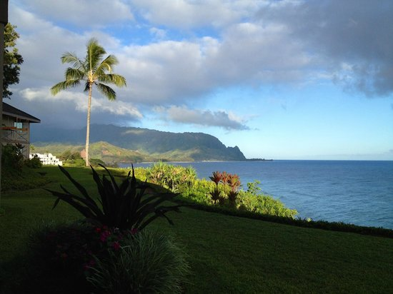 Marc at Princeville Pali Ke Kua: View  from the  lanai