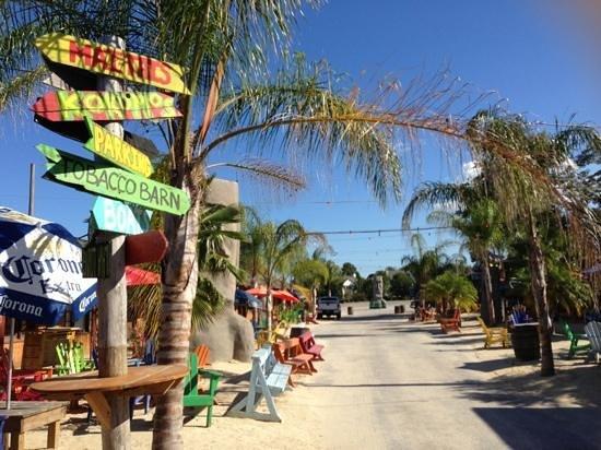 The Tiki Bar Beach Area At