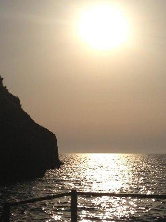 Gradola: il tramonto