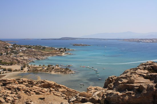 Astir of Paros : View of Kolymbithres from the Acropolis hill