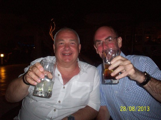 Bob Gary Enjoy A Short Picture Of Marea Terraza Lounge