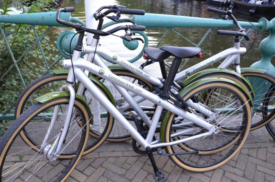 Conscious Hotel Vondelpark: The bikes we rented from the hotel