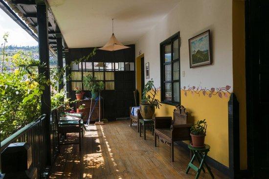 Hotel Riviera-Sucre : le patio à l'étage