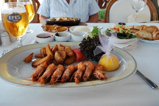 Mahperi Restaurant: Karides (grosses crevettes grillées)