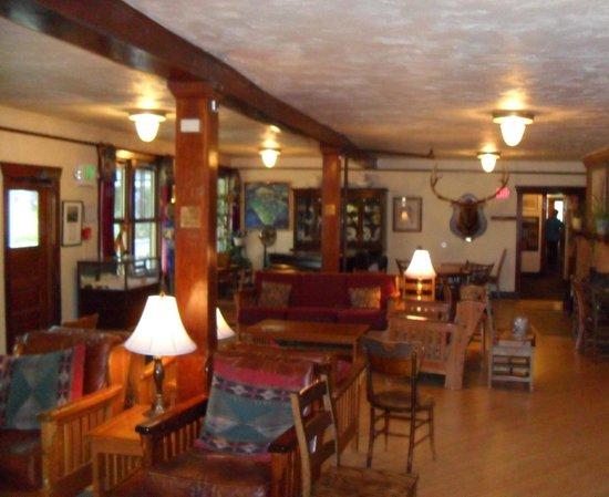 Chico Hot Springs Resort The Main Lodge Front Desk Near Restaurant
