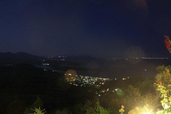 Esperos Pelion: View from the balcony at night