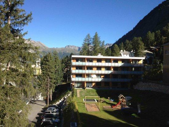 Hotel Rosatsch: La vue vers le Nord-Ouest