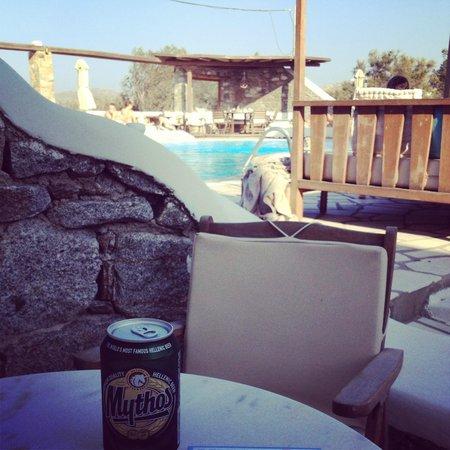 A Hotel  Mykonos: Vista do nosso quarto da piscina