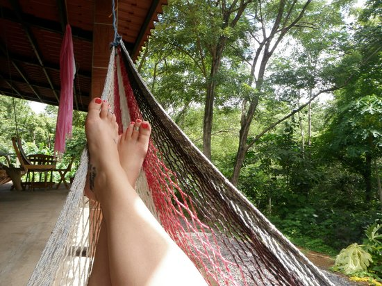 Rancho Cecilia Nicaragua: Relaxing in the hammock with jungle views