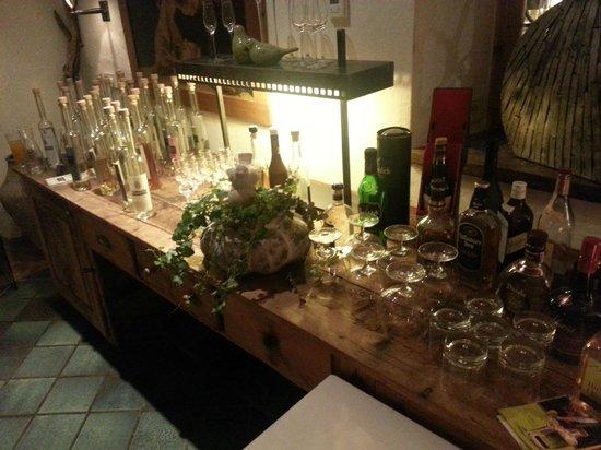 Strasserwirt Herrenansitz zu Tirol: L'angolo delle grappe