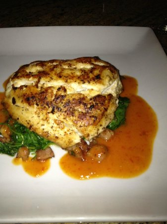 Opus : Seared black grouper