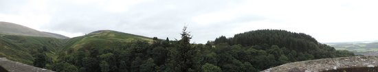 Castle Campbell: Panoramic from top of Castle