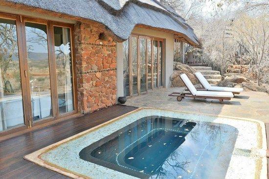 Madikwe Hills Private Game Lodge: Room plunge pool