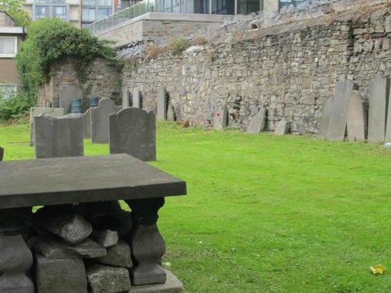 St. Michan's Church : the graveyard behind the church