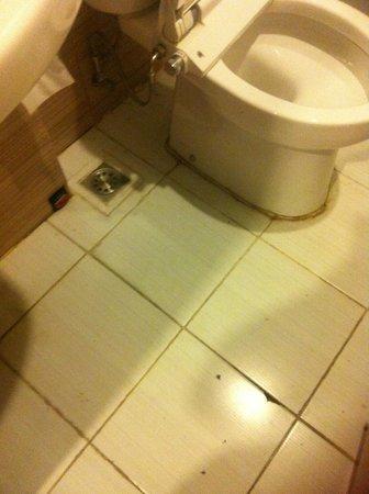 Smart Hotel: bagno con mattonelle rotte