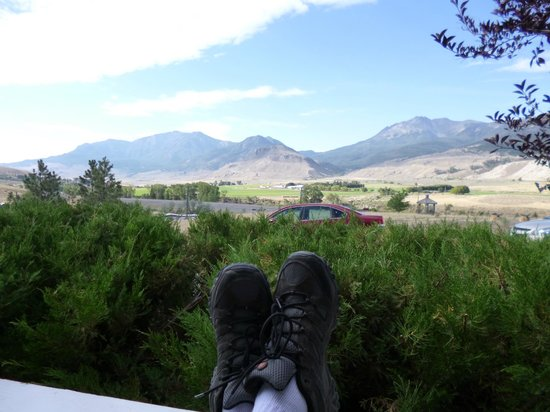 Yellowstone Basin Inn: View from the rocking chair