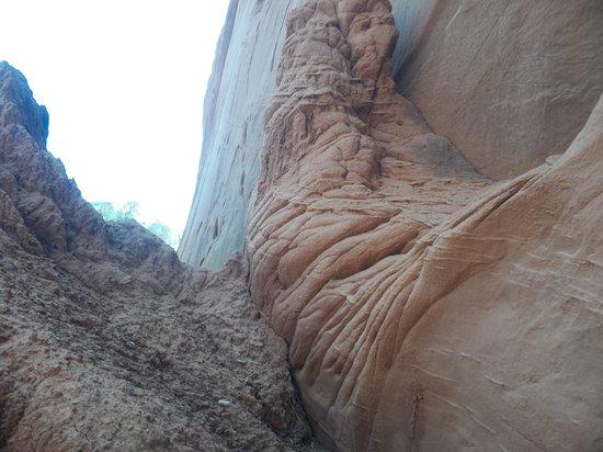 Kodachrome Basin State Park : folded canyon wall