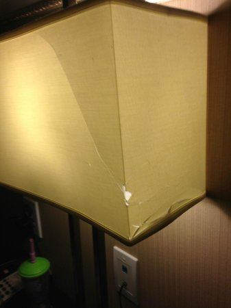 Holiday Inn Express Hotel & Suites West Coxsackie: broken lamp
