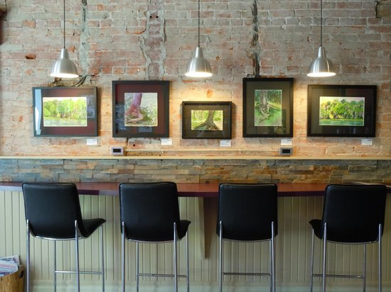 Diesel House Cafe: Counter Seating and paintings by local artist