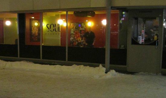 Soul Kitchen on a winter night