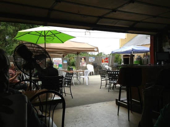 Nauti Nancy's: Taken from the bar outside looking to the patio