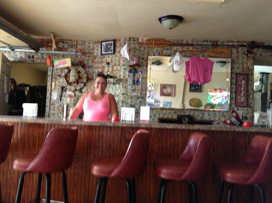 Nauti Nancy's: Our waitress at the bar